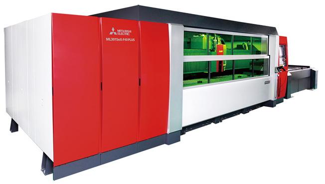 三菱推出新型激光加工机ML3015eX-F40 大幅减少加工时间和能耗