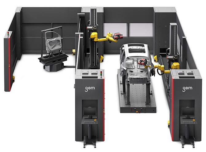 自动测量整个汽车白车身,GOM在3D形状测量检查系统中追加大尺寸测量机型
